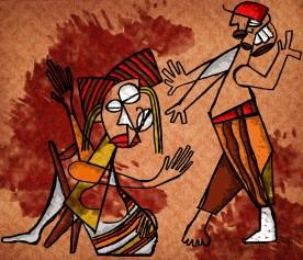 violência contra a mulher cor