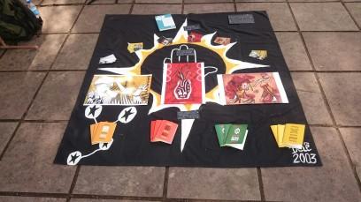 Exposição dos produtos no Evento Rock na Praça-RS